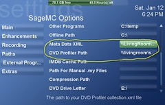 SageMC Options Screen