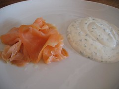 Saumon fromage blanc ciboulette/aneth