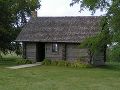 Laura Ingalls Wilder Birthplace Cabin photo by Library Grandma