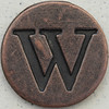 Copper Uppercase Letter W