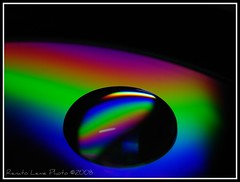 SONIQUE !  (water drop on CD) photo by Renato Leme