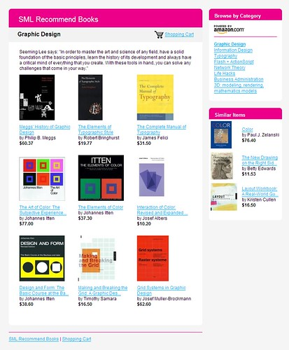 SML Recommend Books: Graphic Design / 2007-12-02 / SML Screenshots (by See-ming Lee 李思明 SML)