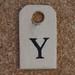 Wooden Tag Y