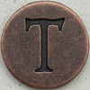 Copper Uppercase Letter T