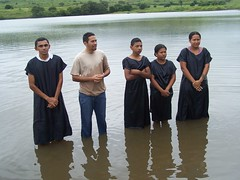 Pastor Edson and Baptismal Candidates