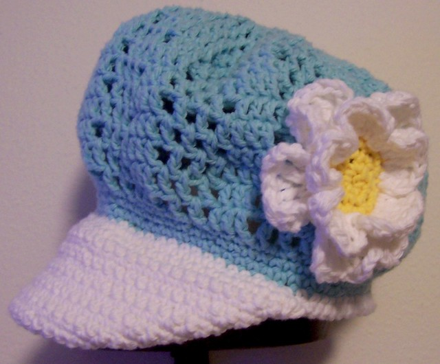 Easy CROCHET PATTERN Girl's BIG FLOWER Skull HAT Cap | eBay