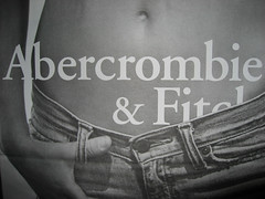 Abercrombie & Fitch model low rise jeans photo by Mel Angelo