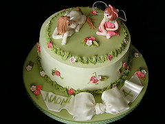 Green Garden and Fairy Cake photo by JaneBK
