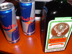 Jagermeister Redbull (JagerBombs) photo by Seipp