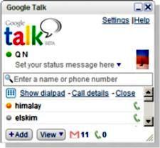 Dialpad in Google Talk