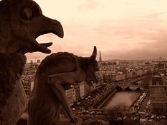 Silhouettes on Paris.- photo by ancama_99(toni)