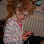Watching video on Grandad's ipod<br/>15 Mar 2008