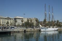 Segelschiff in Barcelona
