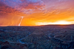 Lightning over Fish River Canyon photo by DavidHart