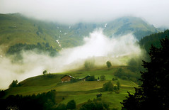 Alp in fog photo by dellafels