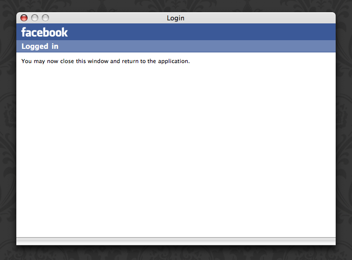 Facebooksync post login