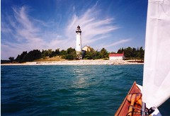 Kayaking to South Manitou Island photo by cedarkayak
