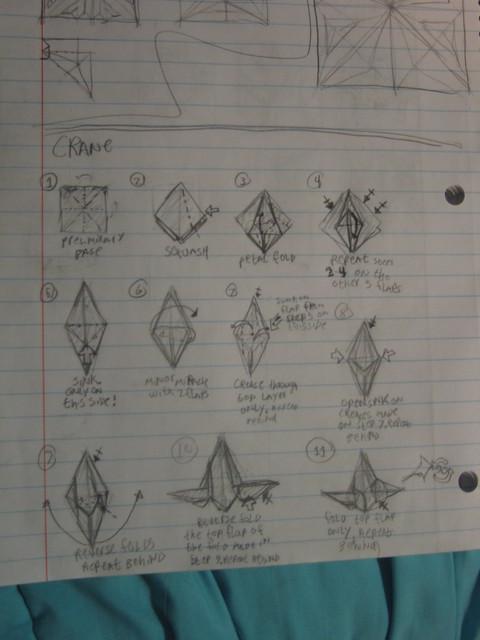 origami peace crane instructions