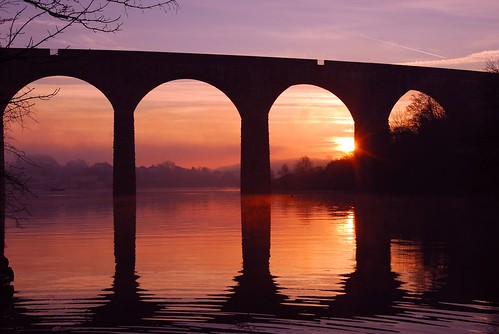 Coombe Viaduct at sunrise