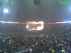 Inside the Arena, looking at the stage from Section 127