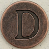Copper Uppercase Letter D