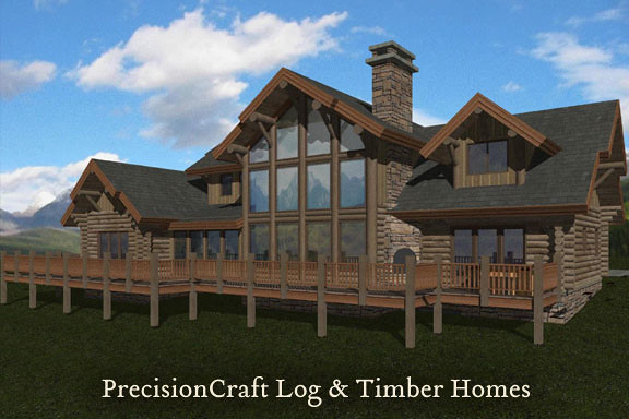 Log Home Plans In Maine Floor Plans