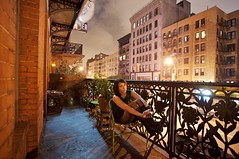 On the Chelsea Balcony | New York City photo by ldandersen