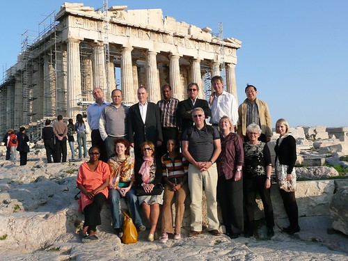 Delegates of IFACCA's first European members meting at the Parthenon, Athens, November 2007