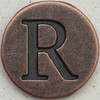 Copper Uppercase Letter R