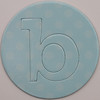card disc with push out letter b