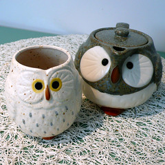 owl tea set photo by buzzygirl
