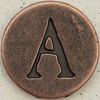Copper Uppercase Letter A