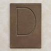 Brass Letter D
