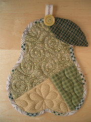 PEAR trivet photo by PatchworkPottery