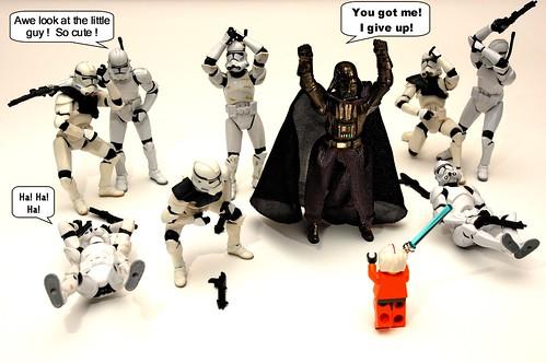Lego Luke confronts Darth Vader