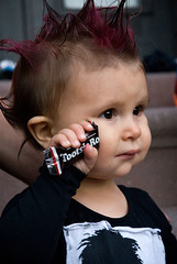 Baby dressed as Punker, Halloween, Park Slope, Brooklyn photo by jackie weisberg