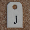 Wooden Tag J