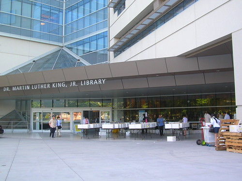 King Library and the sale outside