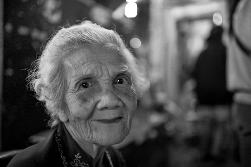 A Woman's Face in B&W - The Beauty of a Good, Lived Life / Thailand