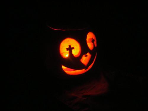 my pumpkin in the dark