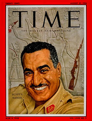 President Nasser on the cover of the time for second time