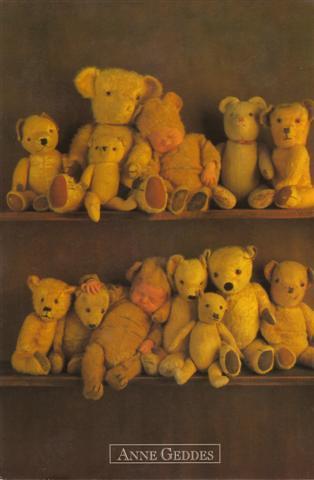 étagère d'ours en peluche