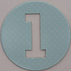 coloured card disc letter l
