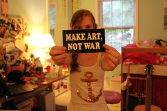 make art not war photo by mariastephanie