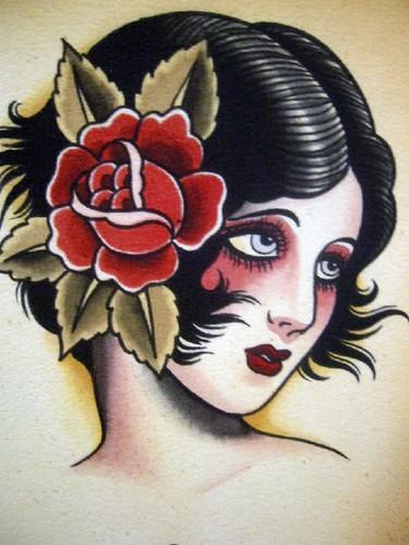 Vintage Tattoo Flash Art 20   169  Photo by bonniegrrlVintage Gypsy Tattoo