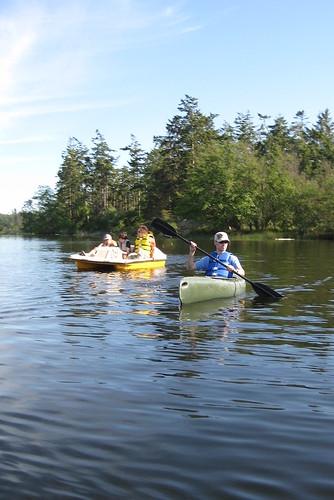 Floating on Cranberry Lake