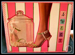 Sweet (The Shoe Series) - Collage on Canvas ORIGINAL photo by tinaswhimsyusa