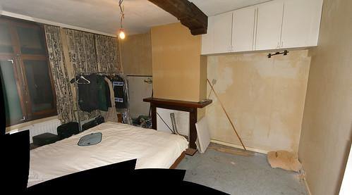 Onze kamer net vóór de verbouwingen