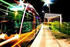 All Aboard The Night Tram - 10,000 views photo by Dave G Kelly