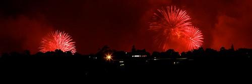 Fireworks over Enmore, Sydney